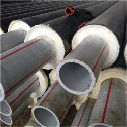 湖北 鑫龍日升 一步法聚氨酯保溫管dn32/42聚氨酯預制保溫管道