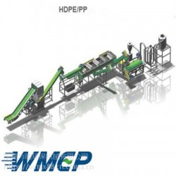 HDPE浮水料回收破碎清洗設備 HDPE廢舊牛奶瓶處理設備