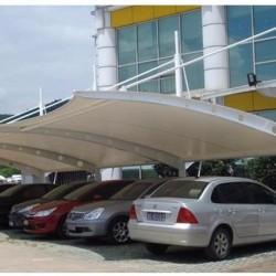 膜结构汽车停车棚电动自行车充电桩遮阳雨蓬公园小区景观棚