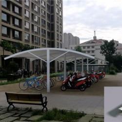 膜结构自行车棚定做 电动自行车棚停车棚 充电桩车棚安装服务