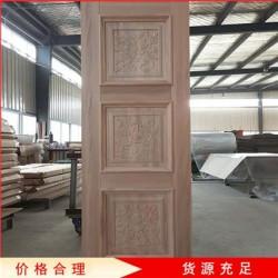 常年销售 原木门 红胡桃实木门 中式木门